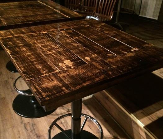 custom restaurant table