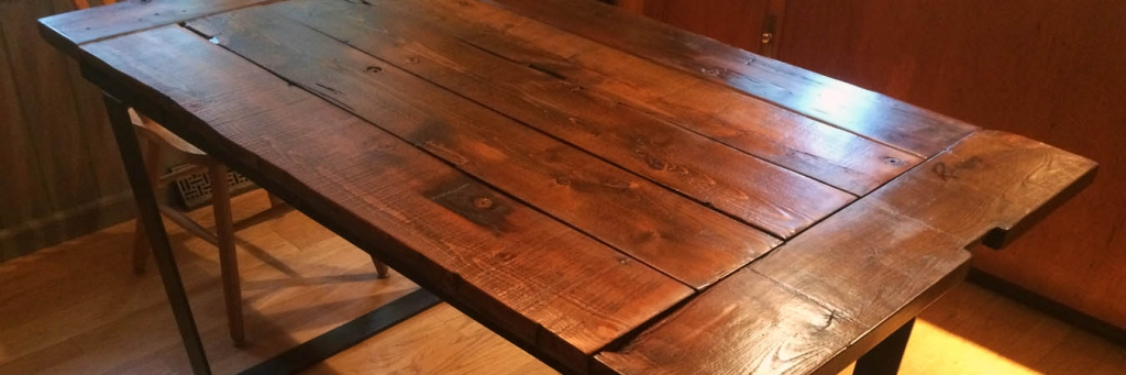 slider rustic wooden table