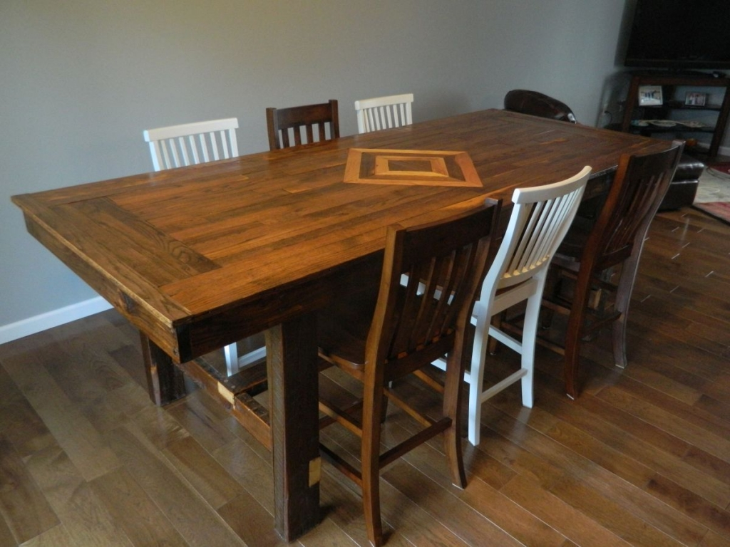 Reclaimed Flooring Dining Table Emmaus