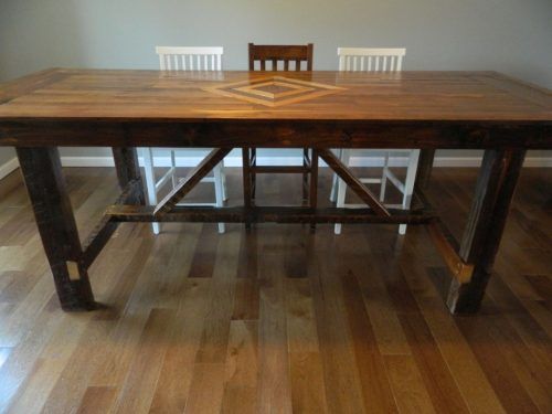 Reclaimed Flooring Dining Table Emmaus III