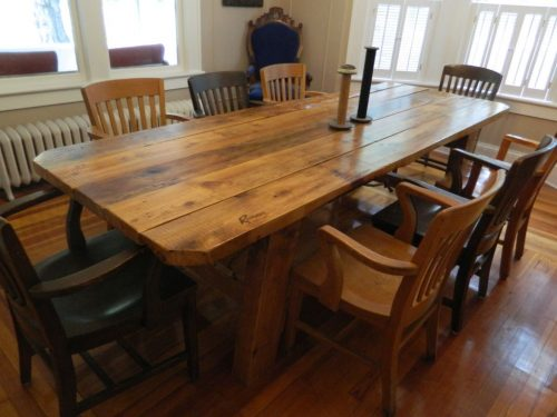 Reclaimed Wooden Farm Table Center Valley PA 2