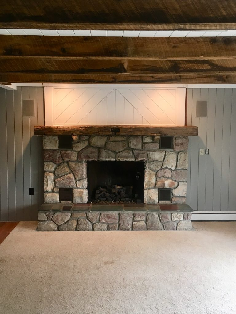 Nikles Beam Install & Fireplace